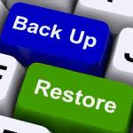 Teclado con teclas de Backup y Restore